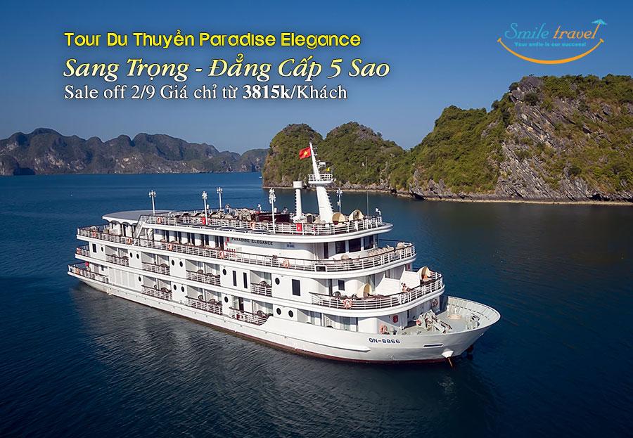 Du Thuyền 5 Sao Paradise Elegance hiện đại bậc nhất