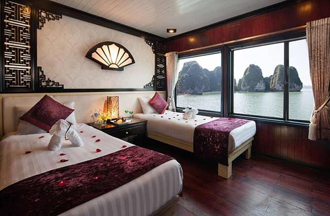 Phòng ngủ Du thuyền Aclass Legend Hạ Long 4 Sao