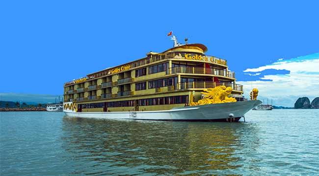 Du thuyền Golden Cruise 9999 là tàu 5 sao lớn nhất